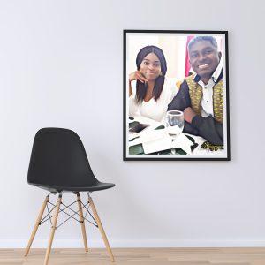 Portrait photo frame